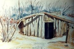 Native American-Log dugout-Neb